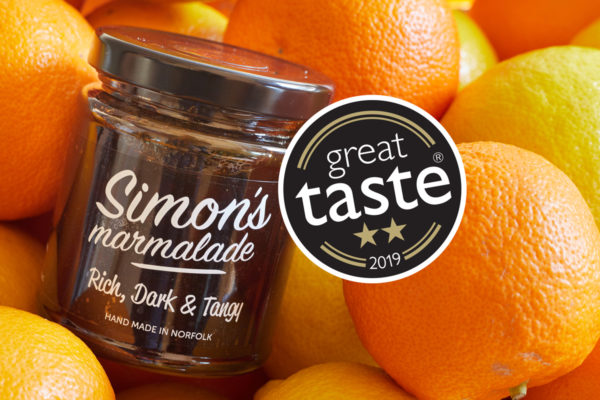 Simon's Table wins 2 Star Great Taste Award for Simon's Dark, Rich and Tangy Marmalade
