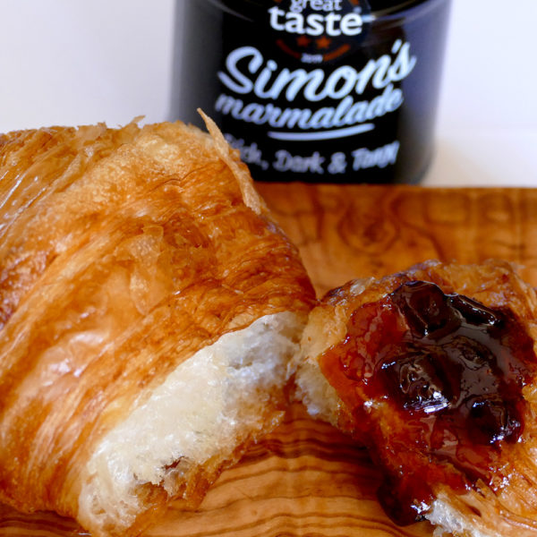 Enjoy Simon's Marmalade with a warm croissant.