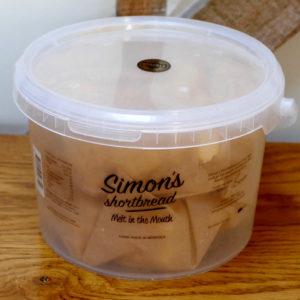 Simon's Shortbread 850g tub made by Simon's Table, Norfolk