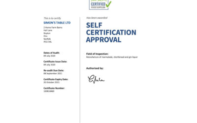 Renewal of our certification to supply National Trust Shops
