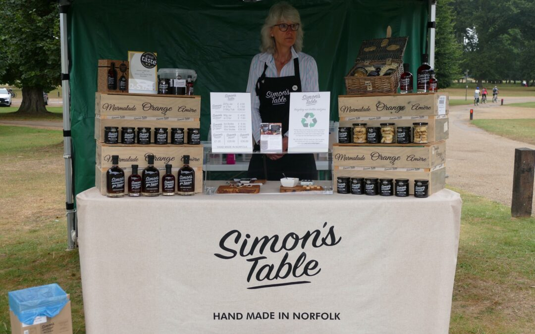 Simon's Table selling at Holkham