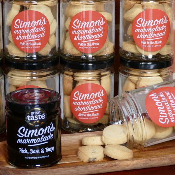 Simon's Marmalade Shortbread hand made in Norfolk